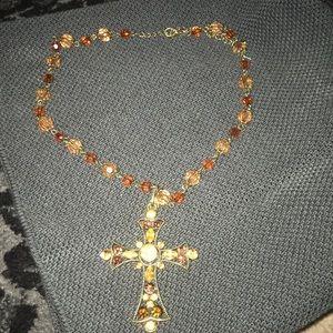 Buckle cross necklace